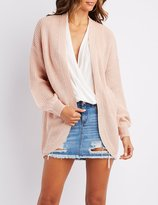 Charlotte Russe Pointelle Cocoon Cardigan