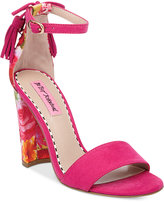 Betsey Johnson Rallo Two-Piece Block-Heel Sandals