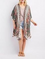 Charlotte Russe Plus Size Medallion Print Kimono Duster