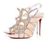 Christian Louboutin Circonvolu Strass 100 Version Crystal Metal Suede - Women Shoes