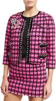 Marc Jacobs Embellished Tweed Jacket, Pink