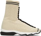 Fendi Beige Sock High-top Sneakers