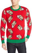 Alex Stevens Men's Sloth Bonanza Ugly Christmas Sweater