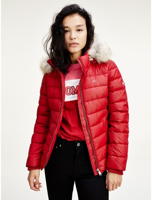 Tommy Hilfiger Recycled Nylon Hooded Down Jacket