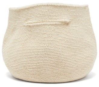 LAUREN MANOOGIAN Baby Bowl Cotton And Linen Handbag - Beige