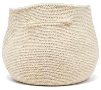 LAUREN MANOOGIAN Baby Bowl Cotton And Linen Handbag - Womens - Beige