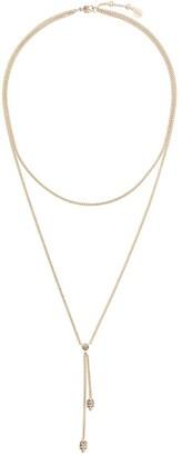 Alexander McQueen Double Wrap Chain Skull Necklace