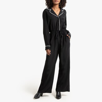 """La Redoute Collections Long-Sleeved Tailored Jumpsuit, Length 28"""""""