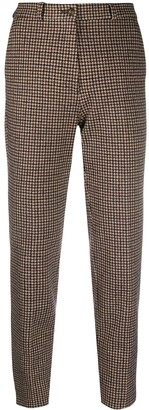 Etro Cropped Houndstooth Print Trousers