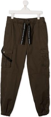 John Richmond Junior TEEN drawstring cargo trousers