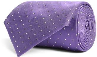 Ralph Lauren Purple Label Silk Miniature Polka Dot Tie