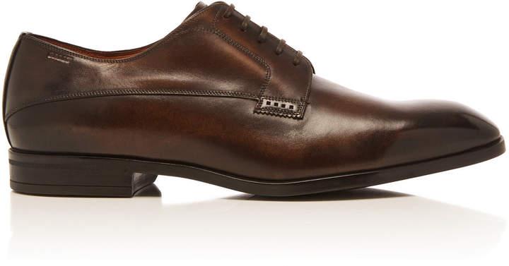 Bally Lantel Brown Calfskin Oxford Dress Shoes