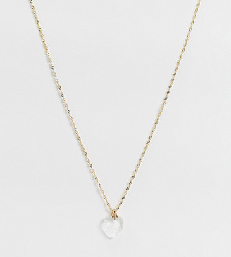 Regal Rose Far & Away necklace in 18K gold plated on sterling silver with glass heart unicorn pendant