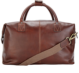 John Lewis Made In Italy Leather Holdall, Brown