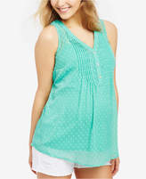 Motherhood Maternity Sleeveless Dot-Pattern Top