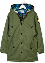 Zadig & Voltaire Kids patched teen padded coat