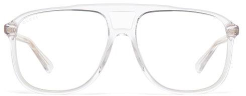 Gucci Squared-aviator Acetate Optical Glasses - Mens - Clear