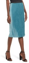 Leith Women's Velour Pencil Skirt