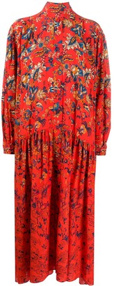 Givenchy Floral-Print Long Dress