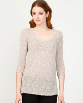 Le Château Textured Scoop Neck Sweater