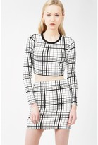 Select Fashion Fashion Womens Grey Mono Grid Check Mini Skirt - size 10