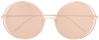 Linda Farrow Double Round Frame Sunglasses