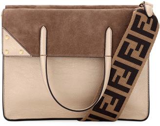 Fendi Grace Calf Matte Flip Tote Bag