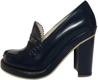 Jil Sander Blue Leather Heels
