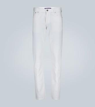 Ralph Lauren Purple Label White stretch slim fit jeans