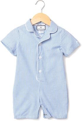 Petite Plume Classic Seersucker One-Piece Pajamas
