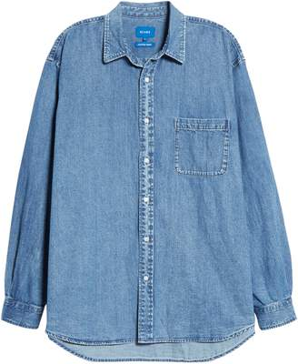 Beams Easy Denim Button-Up Shirt