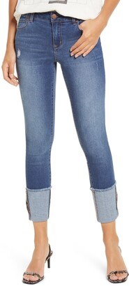 1822 Denim Cuffed Crop Skinny Jeans