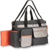 Graco Tangerine Duffel Diaper Bag in Grey/Orange
