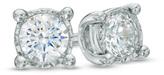 Zales 1/10 CT. T.W. Diamond Solitaire Stud Earrings in Sterling Silver
