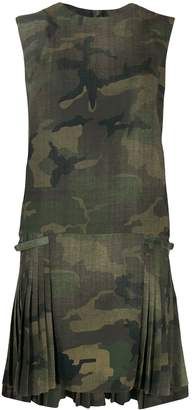 Ermanno Scervino camouflage pleated dress