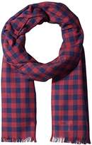 Original Penguin Woven Gingham Scarf Accessory