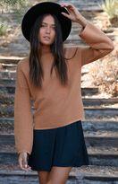 MinkPink Ripple Stitch Pullover Sweater
