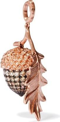 Annoushka Rose Gold and Diamond Acorn Pendant