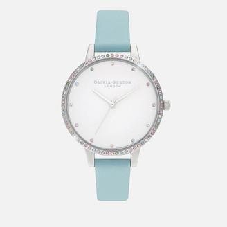 Olivia Burton Women's Rainbow Bezel Watch - Turquoise & Silver