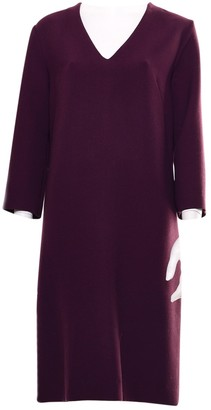 Marni Burgundy Wool Dresses