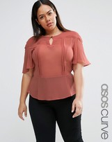 Asos Tea Blouse with Scallop Detail