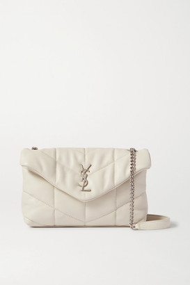 Saint Laurent Loulou Toy Quilted Leather Shoulder Bag - Cream