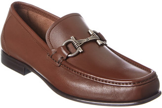 Salvatore Ferragamo Swan Leather Loafer