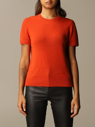 Theory Cashmere Sweater With Short Sleeves