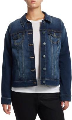 Slink Jeans, Plus Size Full-Length Denim Jacket