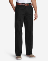 Eddie Bauer Wrinkle-Free Relaxed Fit Comfort Waist Flat Front Causal Performance Chino Pants