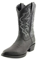 Justin Boots Stampede Pointed Toe Leather Western Boot.