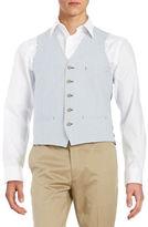 Black Brown 1826 Striped Cotton Vest