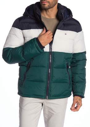 Tommy Hilfiger Quilted Colorblock Puffer Jacket