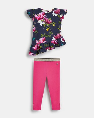 Ted Baker Citrus Bloom Tunic And Leggings Set